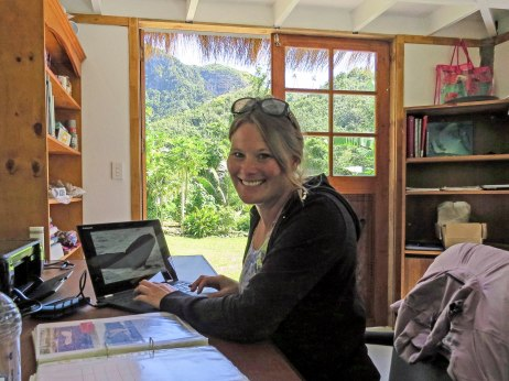 Rarotonga, Cook Islands working with Humpback Whale research fluke identification