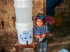 Water filters in homes in Guatemala Lake Atitlan